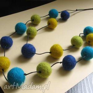 hand-made korale miko - naszyjnik z filcu