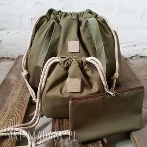 Tashpack khaki & tajemniczy las / tkaninowe torby worki, tashpack, torby, worki