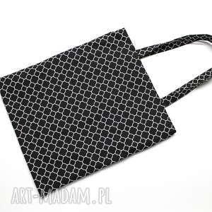 torba bawełniana - koniczyna marokańska i folk, pakowna, bawełniana, zakupy, laptop