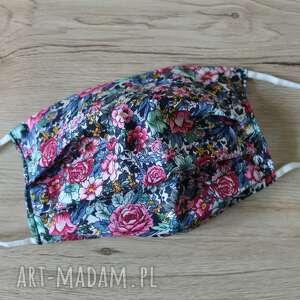 maseczka bawełniana - kolorowa łąka, maska, maseczka, maseczki, kolorowe