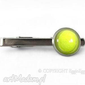 piłka tenisowa - spinka do krawata - srebrna męska, sport