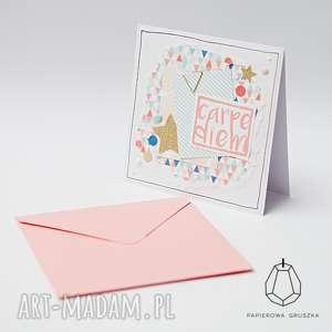 Kartka okolicznościowa kartki papierowa gruszka kartka