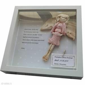 angel style anioł stróż płaskorzeźba prezent spersonalizowany na chrzciny
