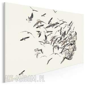 obraz na płótnie - portret ptaki 120x80 cm (61401)