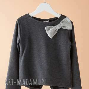 bluza db02g - stylowa, kokardka, modna, bawełniana
