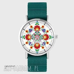 zegarek - folkowa mandala morski, nato, zegarek, bransoletka, folk
