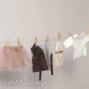 lalki zestaw ubranek - pudrowy róż z gorzką czekoladą, ubranka, dlalalek