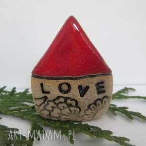 dekoracje domek ceramiczny love, krasnoludkowy, mały, domek