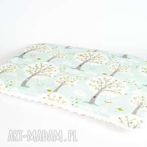 płaska poduszka minky - las ecru 40x60 cm, poduszka, poszewka, minky