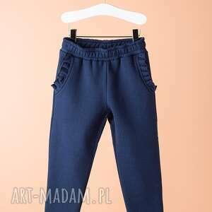 Spodnie DSP11N, spodnie, wygodne, eleganckie, falbanka, dziewczęce, modne
