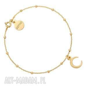 złota bransoletka z księżycem - pozłacane, pozłacana