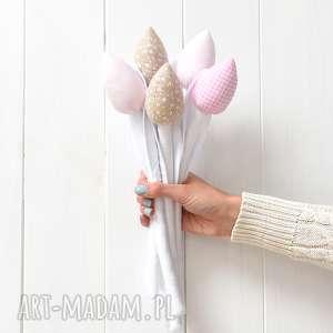 Bukiet tulipanów, tulipany, bawełniane, materiałowe, tulipan, bukiet,