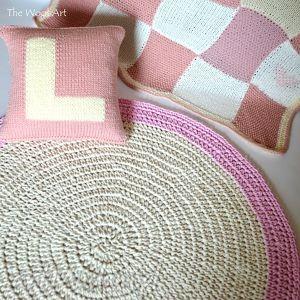dywany bawełniany dywan ecru/róż, dywan, chodnik, dom, dziecko