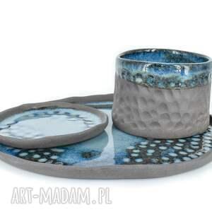 zestaw ceramiczny galaxy, 3-częściowy, kamionka, zastawa stołowa, czarka