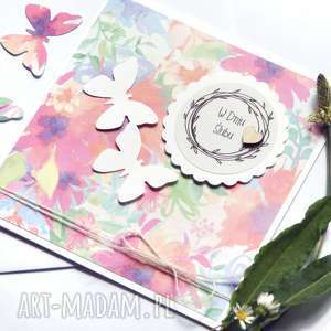 kartka ślubna : handmade motyle WATERCOLORS II, ślub