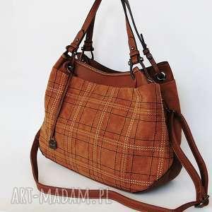 brązowa torba na ramię, torba, torebka, eko skóra