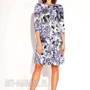 Sukienka kesa sukienki pawel kuzik dzianinowa, wzorzysta