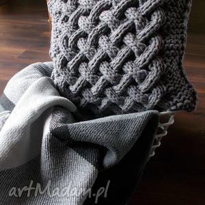Poduszka splatana, poduszka, sznurek, bawełna, handmade