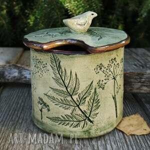 """Cukiernica, pojemnik """"łąka"""" ceramika enio art kwiaty, ceramika"""
