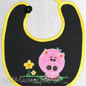 śliniak ze świnką, śliniak, świnka, dziecko, malowane