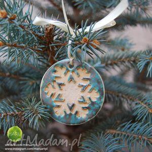 ręczne wykonanie prezenty święta śnieżynki na choink&#281