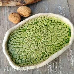 ręcznie zrobione ceramika koronkowy talerzyk ceramiczny (c85)