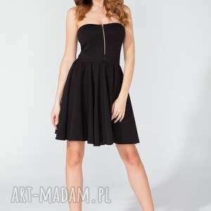 Sukienka mini z gorsetowym przodem T122 kolor czarny - TESSITA, sukienka, gorsetowa