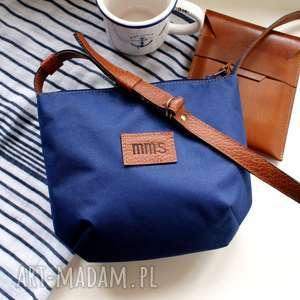 Mini marine, torba, torebka, skóra, wakacje, plaża