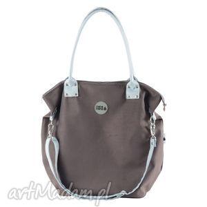mana mysza light blue ii, handmade, duża, pojemna, wygodna torebki, święta prezent