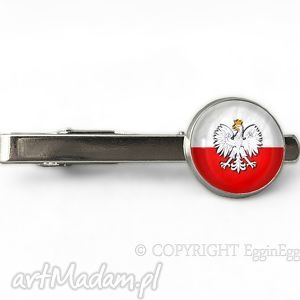 handmade męska polski orzełek - spinka do krawata