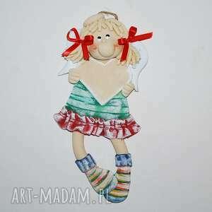 ręcznie zrobione pokoik dziecka serce dla lusi - aniołek z dedykacja