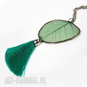 Prezent Naszyjnik z naturalnym liściem WZÓR L3, naszyjnik-z-liścia