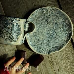 hand made kubki filiżanka koronka