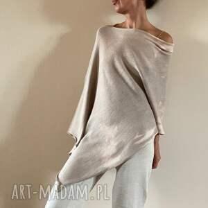 bawełniana delikatnie cieniowana narzutka, ponczo, bluzka, narzutka, tunika