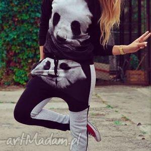unikatowy dres z nadrukiem print 3d motywem panda, spodnie, bluza, sportowy