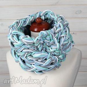 godeco komin bawełniany mint, komin, ciepły, gruby, zima, bawełna, prezent