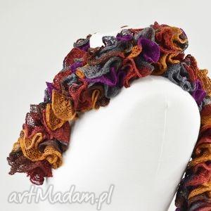 fantazyjny szal - jesienny - szalik, apaszka, fantazyjny, oryginalny, ciepły