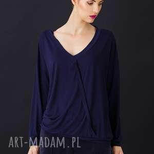 Granatowa bluzka ankona bluzki shemore bluzka, kimono, granatowy
