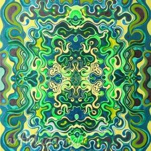 Podwójna symetria kosmiczna 2 pi art obraz, abstrakcja