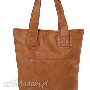 na ramię torba v 10-01 camel, torba, pojemna, codzienna, elgancka