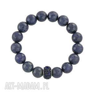 earth energy - navy blue jade with bead - koralik
