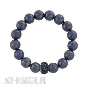 earth energy - navy blue jade with bead, jadeit, koralik