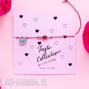 WHW Taste Red Jade II, sznurkowa, sznureczkowa, delikatna, kamienie, bransoletka