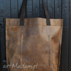 Torba Mr M Vintage ruda skóra naturalna, miejska, ruda, skóra, pojemna