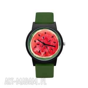 zegarek z silikonowym paskiem arbuz, owoc, lato, prezent, kawon, śmieszny