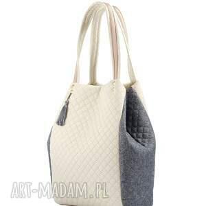 torebki torebka pikowana simple 136, pikowana, pojemna, lekka, farbota, simple