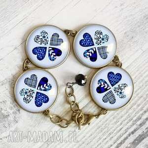 ręcznie robione bransoletki koniczynka z serc - niebanalna duża bransoleta