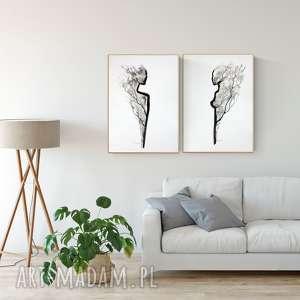 grafiki na zamówienie 3 obrazy 2 x 50 70 cm, 1 30 40 minimalizm