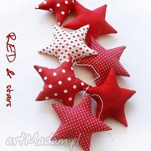 gwiazdeczki - girlanda wersja red - gwiazdki, gwiazdka, girlanda, czerwona, czerwony