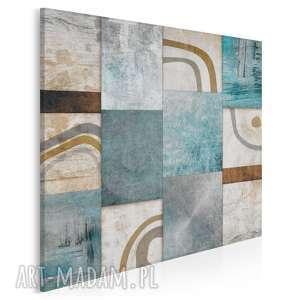 obraz na płótnie - abstrakcja mozaika w kwadracie 80x80 cm 13903